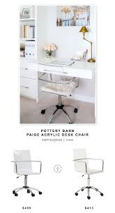 Image Acrylic Side potterybarn Paige Acrylic Desk Chair For 499 Vs jusmodern Eurostyle Chloe Office Chair For 413 Copy Cat Chic Look For Less Budget Home Decor Pinterest Pottery Barn Paige Acrylic Desk Chair Copycatchic Daily Finds