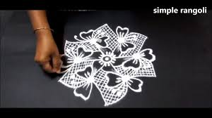 Small Picture simple small creative rangoli designs with 7x4 dots small kolam
