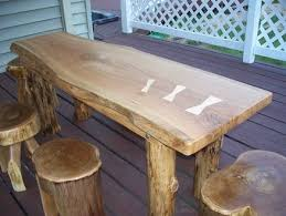 how to build rustic furniture. Image Of: Rustic Farm Table For Outdoor How To Build Furniture