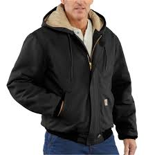 Carhartt Flame-resistant Heavyweight Quilt-lined Duck Active ... & Carhartt Flame-resistant Heavyweight Quilt-lined Duck Active Jacket, Black Adamdwight.com
