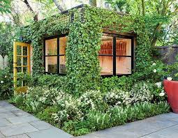 this lush green backyard office is a dream artists studio hidden in a san francisco garden backyard home office pod