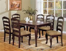 townsville contemporary dark walnut 60 inch dining table set