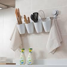 Suction cup wall mounted wash rack kitchen storage bucket bathroom towel  hook bathroom shelf storage rack