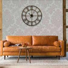 clocks for wall decor bronze distressed finish roman round wall