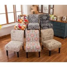 Image Ottoman The Curated Nomad Pavilion Upholstered Armless Accent Slipper Chair Overstock Paisley Furniture Shop Our Best Home Goods Deals Online At
