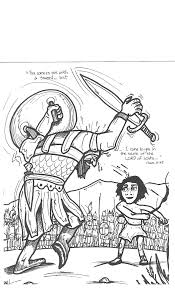 Adult David And Goliath Coloring Page David And Goliath Coloring
