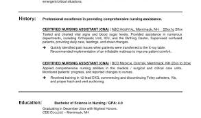 Nursing Assistant Resume Template And Cna Certified Nursing