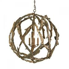 driftwood orb chandelier