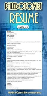 create your own phlebotomist resume use this sample resume and create your unique resume for the post of phlebotomist sample phlebotomist resume