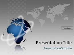 Powerpoint World Free Globe Model And World Map Powerpoint Template This