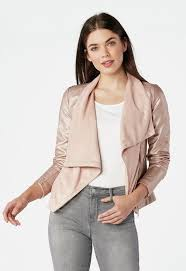 charlie faux leather waterfall jacket womens fashion forever new