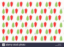 Design By Color Red Wallpaper Seamless Christmas Tree Repeated Pattern Wrapping Paper