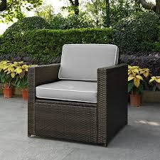 ko70088br gy gray and brown wicker patio arm chair palm harbor