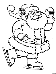 Santa Coloring Page Rudolph And Santa Sleigh Coloring Pages ...