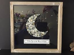 i love you to the moon and back handmade framed on art picture