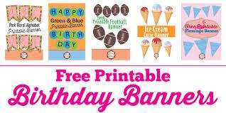 Birthday Banner Printable Free Printable Birthday Banner Ideas