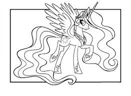 Des Sports Coloriage My Little Pony Princesse Celestia Coloriage