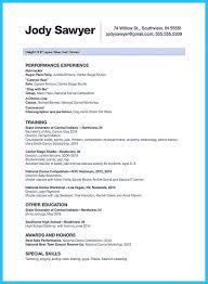 Impressive Resume Professional Dance Resumeemplate Nicehe Best And Impressive