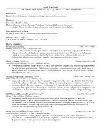 Speech Therapist Resume Awesome JBS Resume