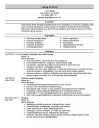 Convenience Store Manager Resume Examples Store Manager Installation Repair Professional Rare Resume For 34