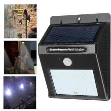 outdoor 8led solar power pir motion sensor wall