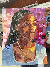 Example Of A Collage Student Example In 2019 Collage Portrait Intro To Art