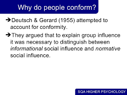 conformity obedience  6 why do people conform