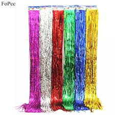 5pcs 1m 15cm multicolor rain curtain picture background wall