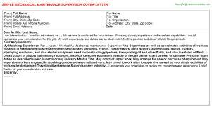 cover letter example for maintenance supervisor building superintendent cover letter