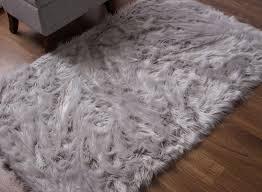 cream sheepskin rug long faux fur rug fake bear pelt large white fur rug