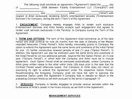 Artist Management Contract Template Property Manager Contract Form