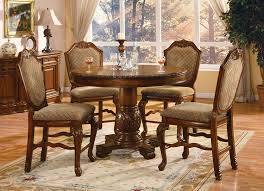 dining room chairs counter height. amazon.com - acme 040482-set chateau de ville 5-piece counter height dining set, table/4 chairs, cherry finish table \u0026 chair sets room chairs