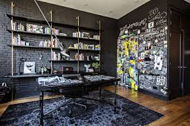 home office design quirky. Cool Indoor Graffiti Art Murals For Unique Home Office Design With Modern Black\u2026 Quirky Y