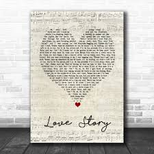 Taylor Swift Love Story Script Heart Song Lyric Quote Music Print - Song  Lyric Designs