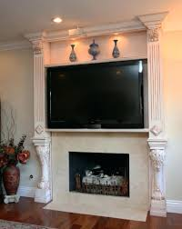 install tv on fireplace wall mount above hide wires mounting brick