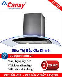Máy hút mùi nhà bếp dạng kính cong 90cm Canzy CZ900TC, Giá tháng 4/2021