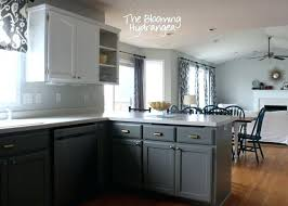 grey painted kitchen cabinetspainting kitchen cabinets two colors  truequedigitalinfo
