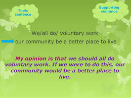 opinion essays sentence 35 we all do voluntary work