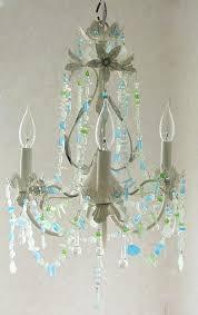 sea glass chandelier. Sea Glass Chandeliers Lighting Fixture Chandelier Beach Cottage Shabby Chic Coastal Decor