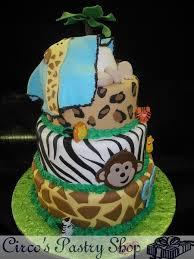 Jungle Animals Baby Shower CakesBaby Shower Safari Cakes