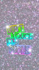 Hd wallpapers and background images. Don T Touch My Phone Pink Wallpapers Wallpaper Cave