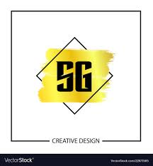 Sg Template Initial Letter Sg Logo Template Design Royalty Free Vector