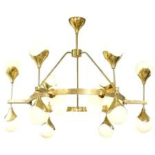brass and glass chandelier sprocket sixteen light