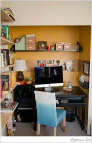 office room diy decoration blue. Elegant Orange And White Themed Home Office Design In The Closet With Black Wooden Desk Unique Table Lamp Ideas Also Modern LED Computer Room Diy Decoration Blue