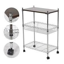 office trolley cart. Wonderful Trolley 3 Tier Heavy Duty Storage Kitchen Office Cart Metal Basket Trolley With  Wheels Chopping Board To T