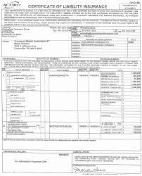 Blank Sample Certificate Of Insurance Fresh Acord Certificate ...
