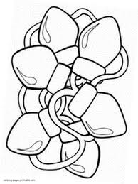 Christmas Lights Coloring Pages Christmas Light Coloring Page Best