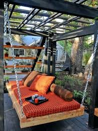 relaxing outdoor hanging beds suspended bed for your home bedroom set and fisher patio furniture bay contemporary outdoor suspended bed