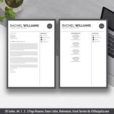 2019 Best Selling Ms Office Word Resume Cv Bundle The Rachel Resume Templates Cv Templates Cover Letter References For Unlimited Digital