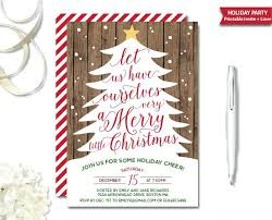 Christmas Holiday Invitations Gold Foil Holiday Party Invitation